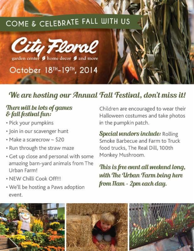 cityfloral newsletter fall festival