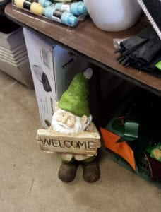 garage sale gnome