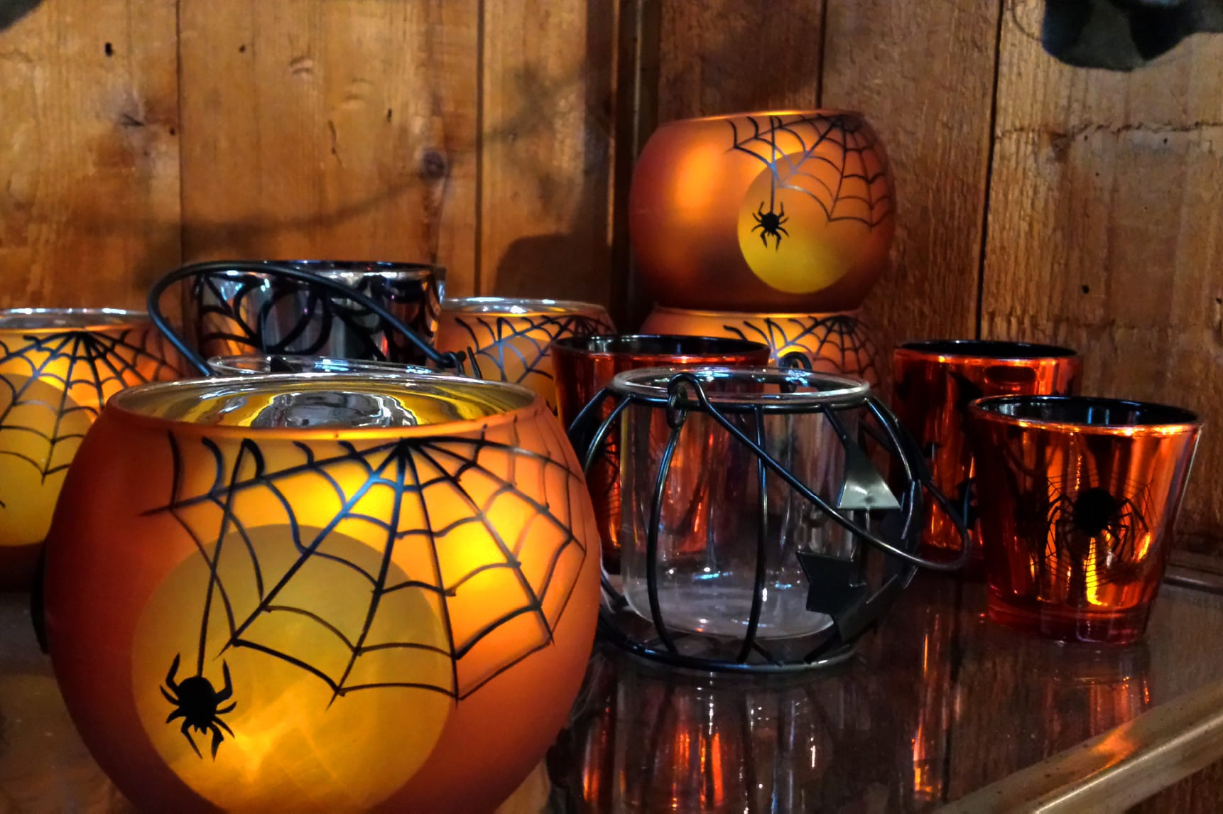 halloween spider votives