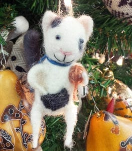 ornament-felt-cat