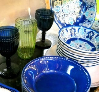 plates and glasses melamine