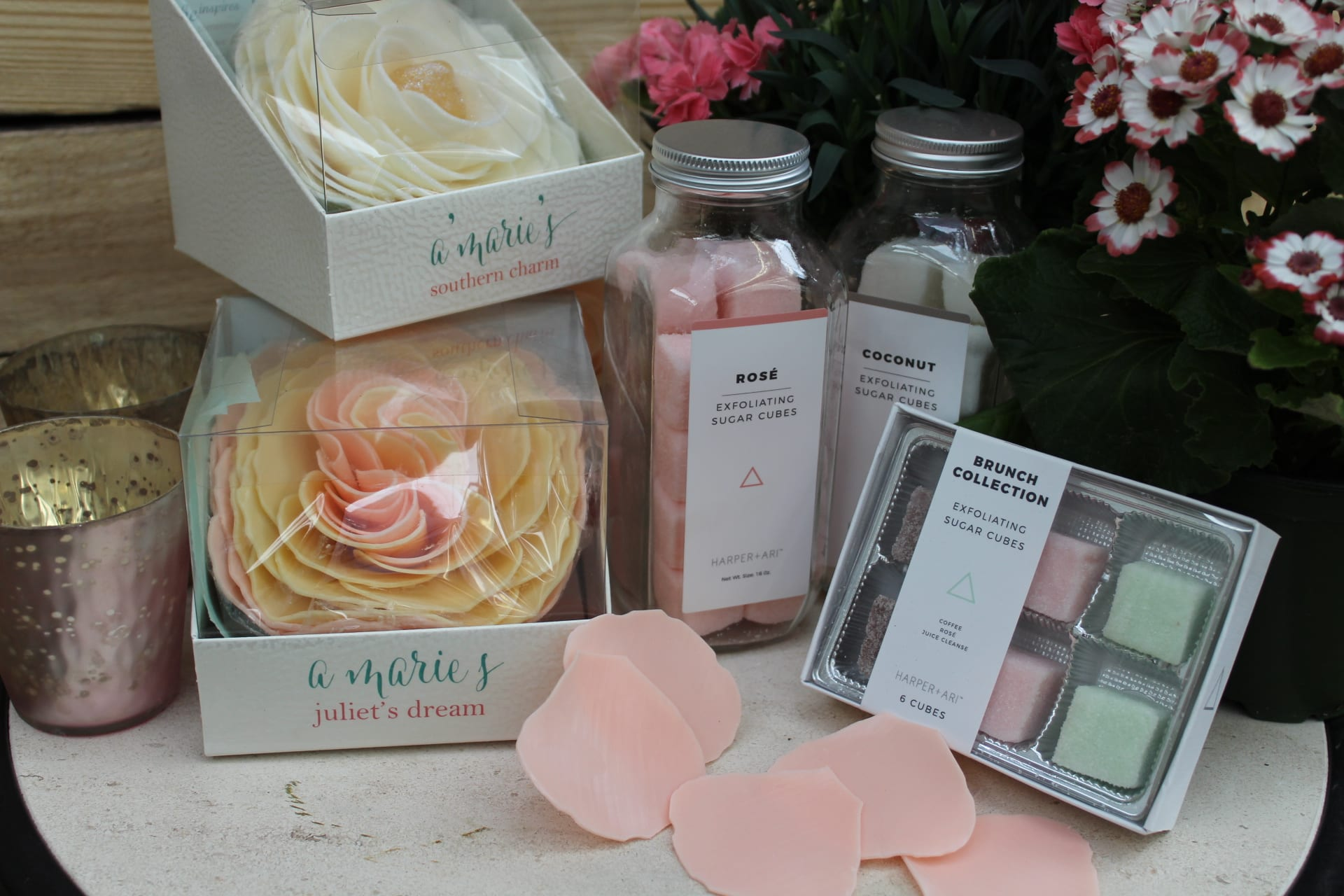 A marie's, Harper + Ari, spa items at City Floral Greenhouse