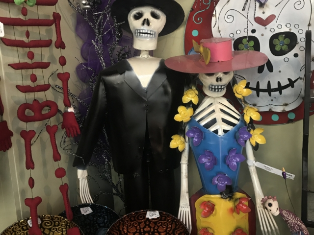 day of the dead, dia de los muertos decor at city floral greenhouse and garden center