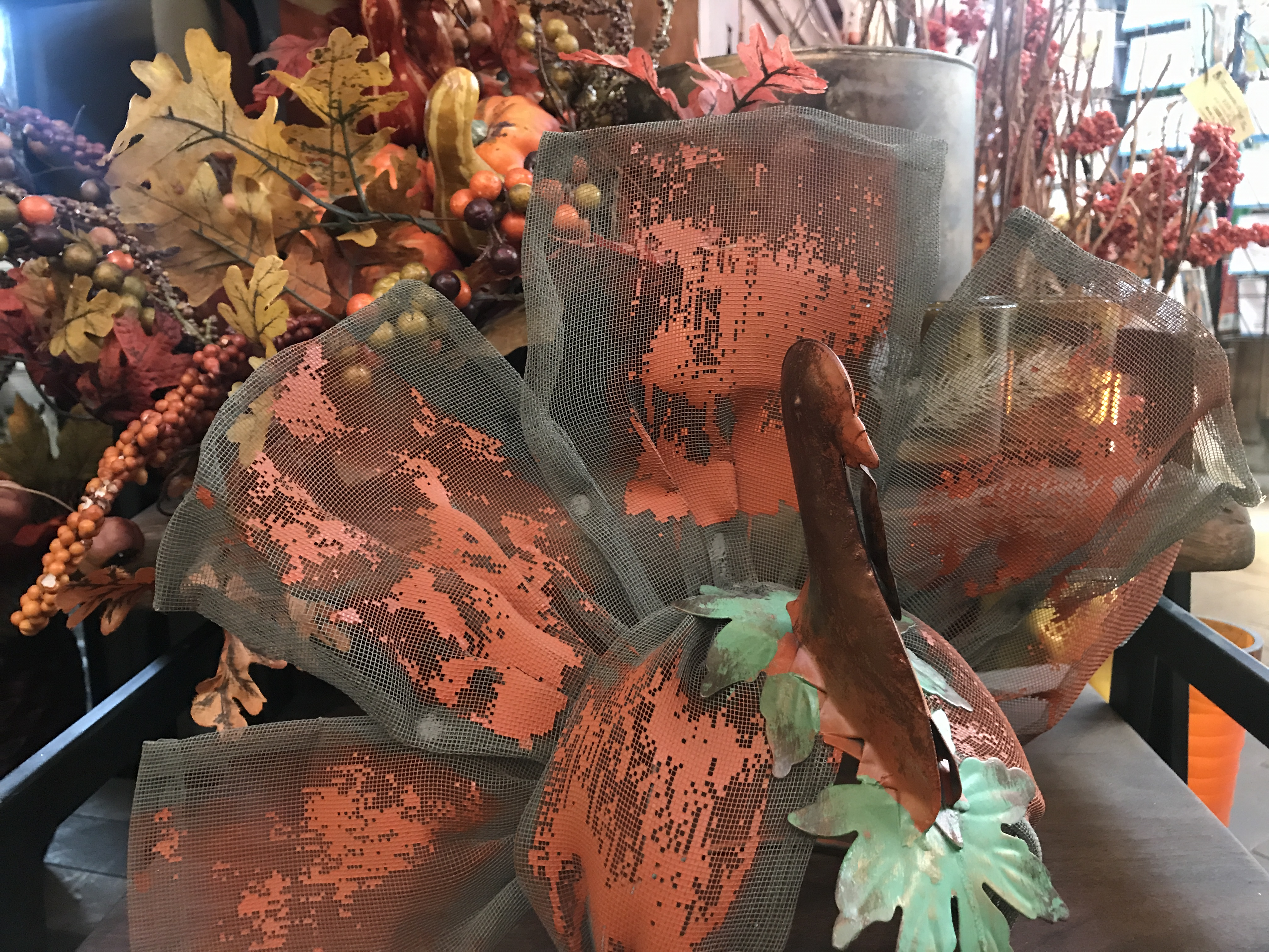 Thanksgiving and fall season decoration at City Floral greenhouse and garden center
