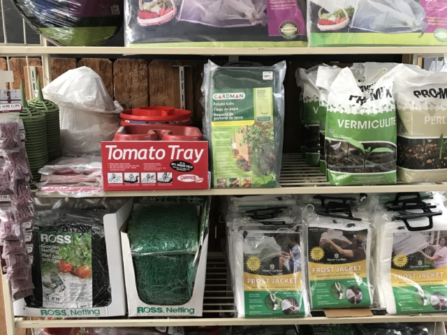 seed starting and gardening tools at city floral greenhouse