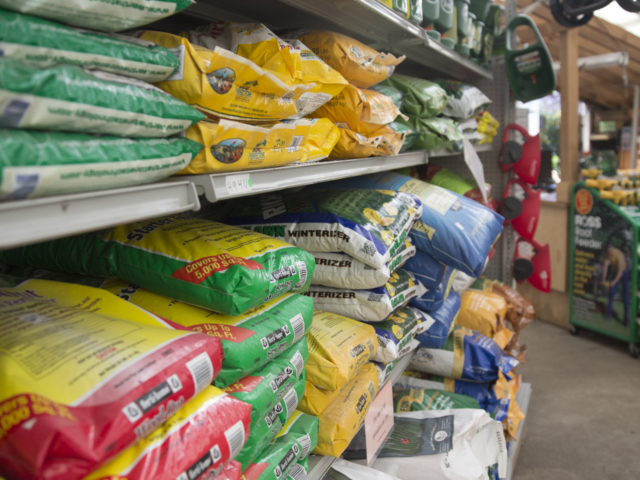 lawn care supplies at city floral greenhouse and garden center
