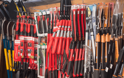 gardening tools at city floral greenhouse and garden center