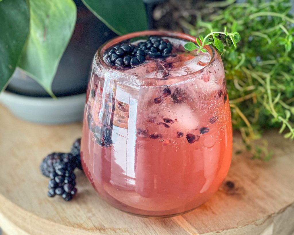 Blackberry Thyme Gin and Tonic