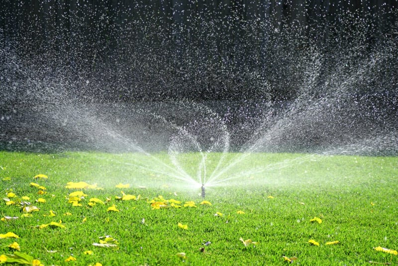 Turn off and blow sprinklers systems