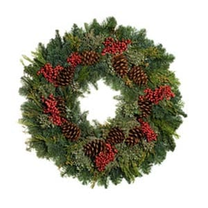 Canella Berry Holiday Wreath