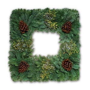 Square Holiday Wreaths